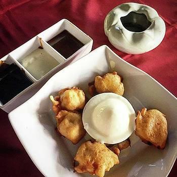 Banana Fritters With Vanilla Ice Cream by Arya Swadharma