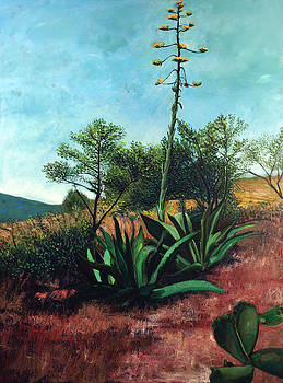 Banana Plant with Agaves by Maria Rizzo