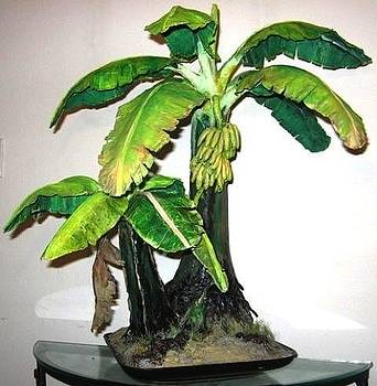 Banana Tree Sculpture ALL HAND-CRAFTED Original ECO Art by Nelbert  Flores