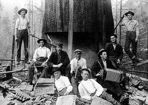 Daniel Hagerman - BAND of LUMBERJACKS c. 1890