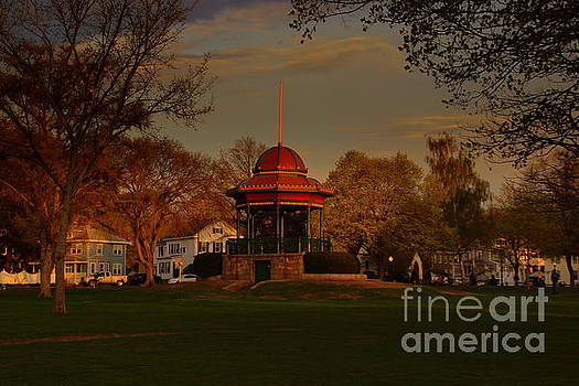 Bandstand at sunset by Lennie Malvone