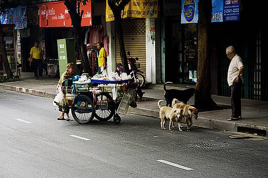 Bangkok Street Vendor by Leo Bello