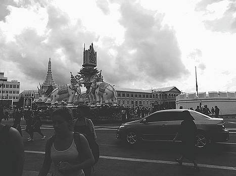 Bangkok, Thailand In The Time Of Mourning by Sirikorn Techatraibhop