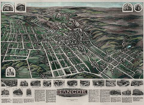 Bailey-Titchenal - Bangor Pennsylvania  Birdseye Print