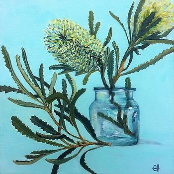 Banksia Australian Native Painting by Chris Hobel