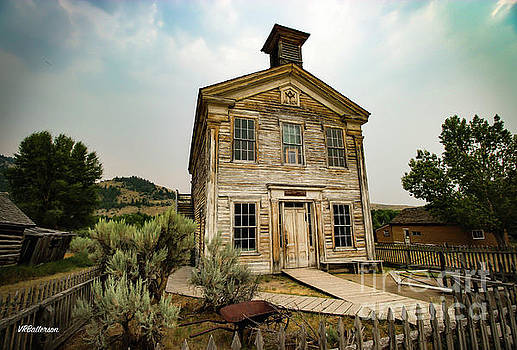 Bannack Montana Masonic Lodge and School House Two by Veronica Batterson