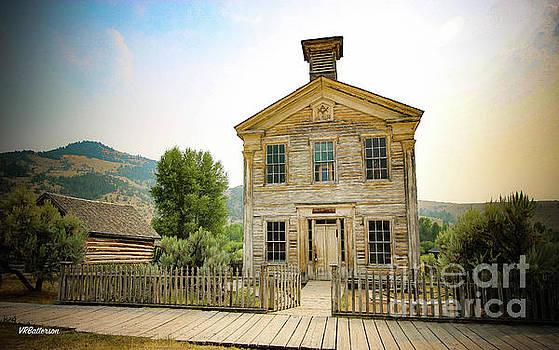Bannack Montana Masonic Lodge and School House by Veronica Batterson