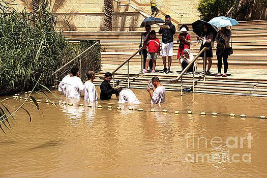 Baptism in the Jordan River by Mae Wertz