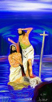 Baptism of Jesus  Christ by Lazar Caran