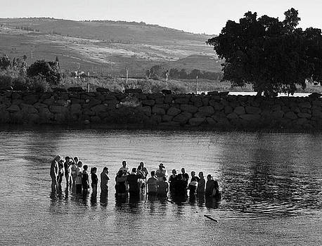 Baptism on the Galilee by Michael Gora