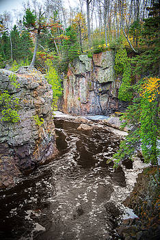 Baptism River in Tettegouche State Park MN by Alex Blondeau