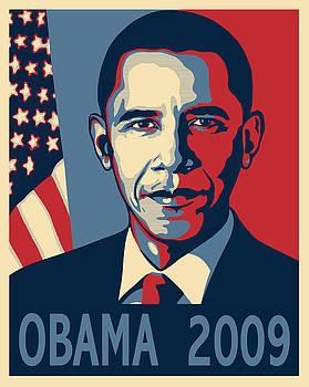 Barack Obama Presidential Poster by Sue  Brehant