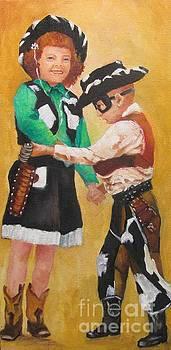 Barbara and Buddy Playing Cowboys by Barbara Haviland
