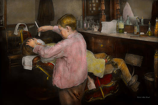 Mike Savad - Barber - Shaving - Faith in a child - 1917