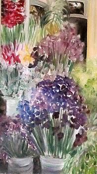 Barcelona Flower Mart by Chuck Gebhardt