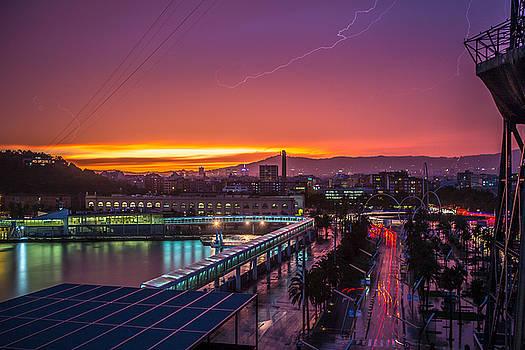 Barcelona Lightning Storm by Ryan McKee