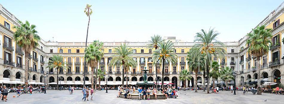 Barcelona Panorama Placa Reial by Joerg Dietrich