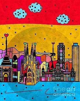 Barcelona Popart by Nico Bielow by Nico Bielow
