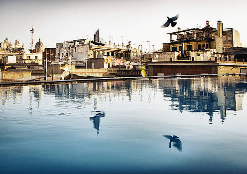Barcelona Rooftop Pool by Rich Legg