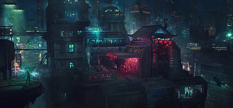 Barcelona Smoke and Neons Eixample by Guillem H Pongiluppi