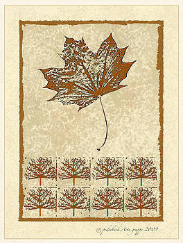 Bare trees and Maple Leaf by Pederbeck Arte Gruppe