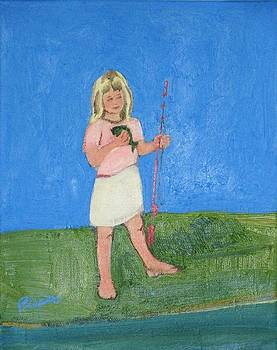 Betty Pieper - Barefoot Girl with Fish