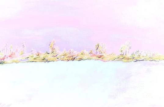 Barely There Pink Abstract Landscape by Eloise Schneider Mote