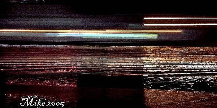 Barge at Slow Shutter Speed by Mike Hazelwood