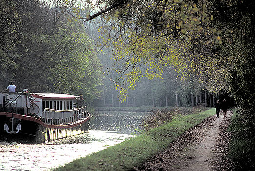 Barge on the Burgundy Canal 2 by Carl Purcell