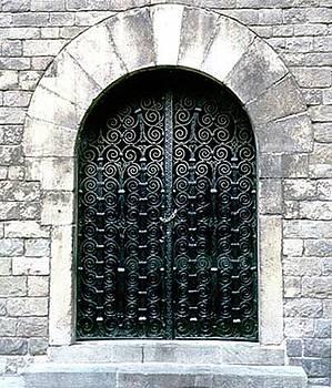 Bario Gotico Barcelona Door by Lydia L Kramer