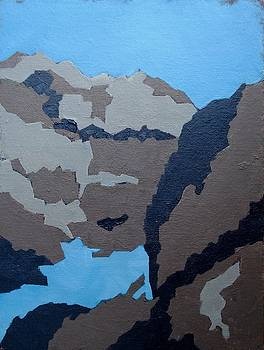 Barker Dam Abstract by Richard Willson