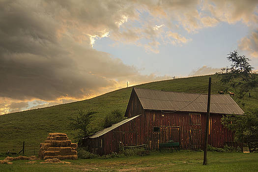 Barn after the Storm by Cassandra NightThunder