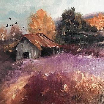 Barn and Birds  by Michele Carter