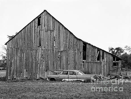 Barn and Chevy by Lionel F Stevenson