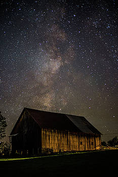 Barn and Milky Way Close-up by Tim Kirchoff