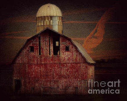 Barn And Silo Near Brushy Creek by Kathy M Krause