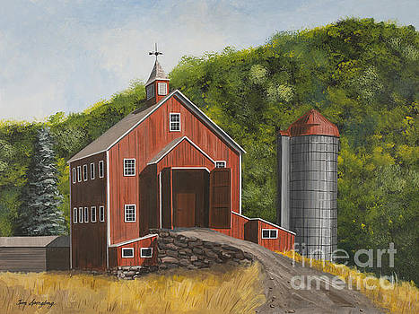Barn and Silo by Timothy Spongberg