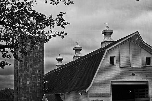 Barn and Silos by George Taylor