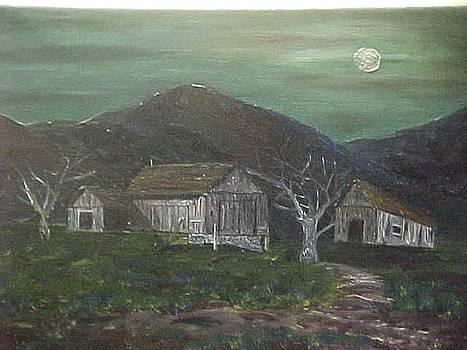 Barn at Night by Brian Hustead