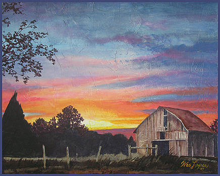 Barn at Sunset by Wes Loper