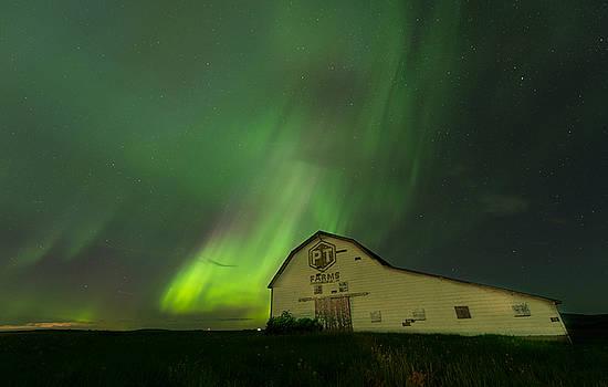 Barn Aurora by Jeff Clark