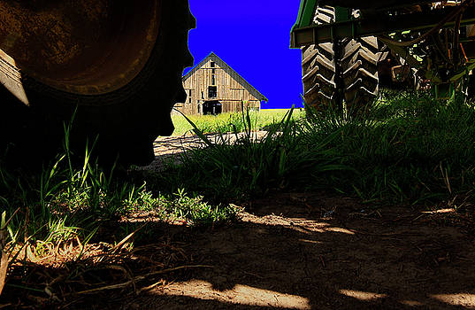 Barn from Under the Equipment by Bob Cournoyer