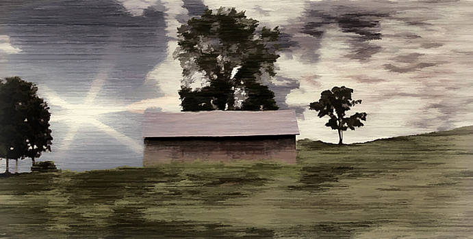 Barn II A Digital Painting by David Yocum