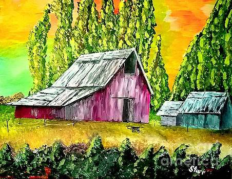 Barn In A Field by Irving Starr