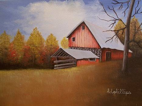 Barn in Fall by Karen Phillips