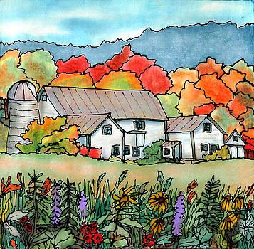 Barn in Pomfret Vermont by Linda Marcille