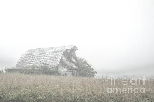 Barn in the fog by Tim Wemple