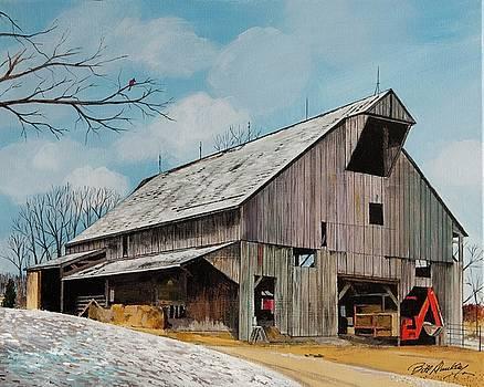 Barn in Winter by Bill Dunkley