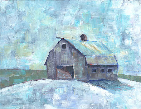 Barn in Winter by Peggy Wilson