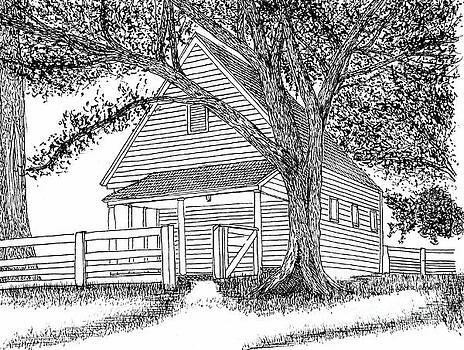 Barn on Francis Street, Williamsburg Virginia Historic District by Dawn Boyer
